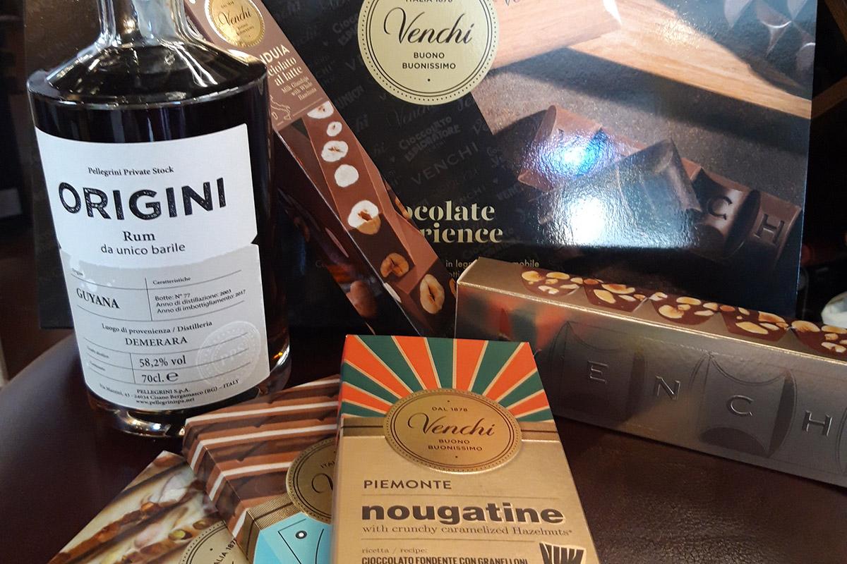 Rum Origini Demerara pairing with Venchi chocolate